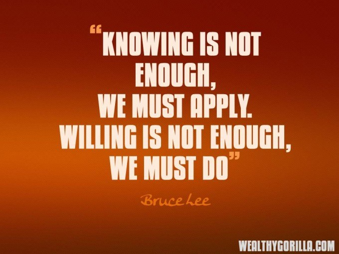 Bruce Lee Motivational Picture Quotes