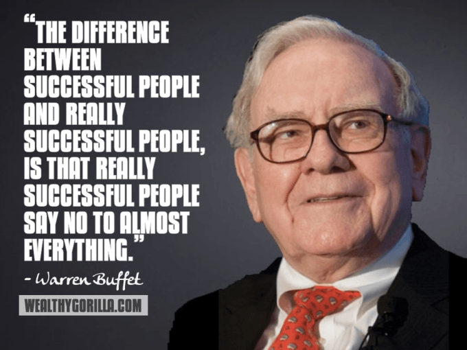 Warren Buffet Inspirational Quote
