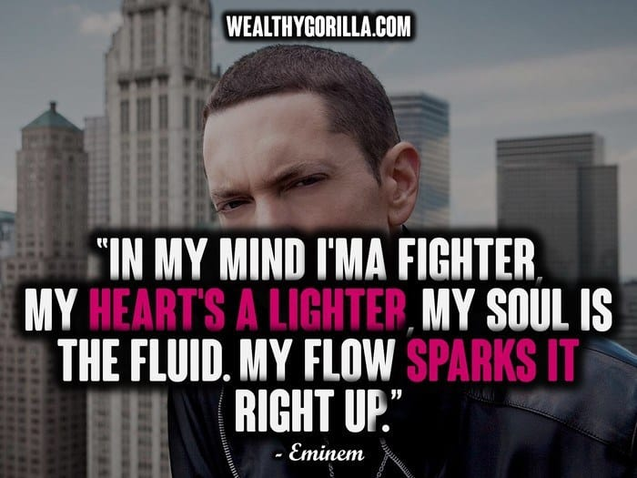 Quotes Eminem Classy 66 Greatest Eminem Quotes & Lyrics Of All Time  Wealthy Gorilla