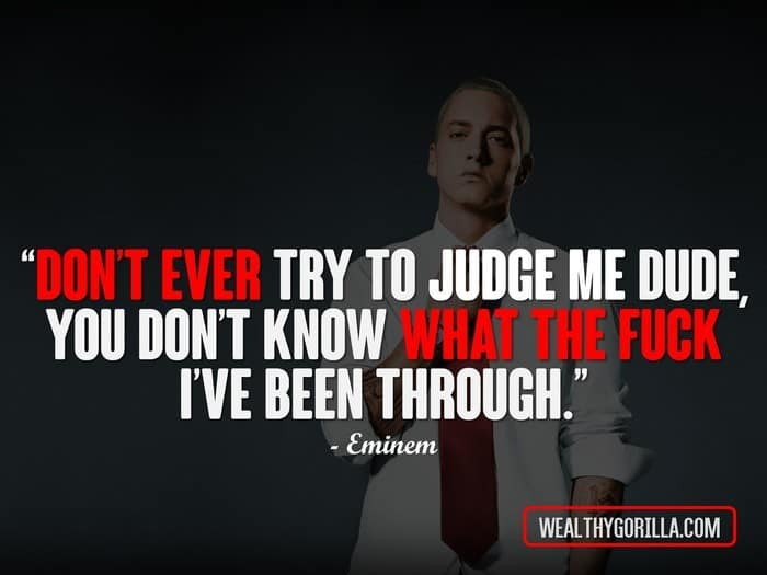 Quotes Eminem Gorgeous 66 Greatest Eminem Quotes & Lyrics Of All Time  Wealthy Gorilla