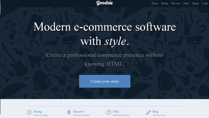 Creating an Online Store with Goodsie