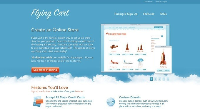 creating an online store with flying cart