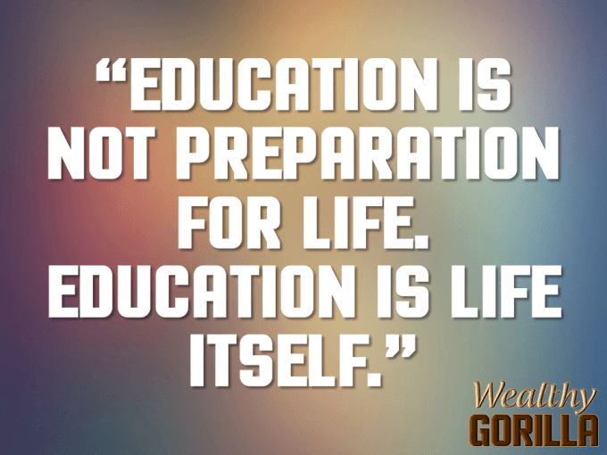 Education And Life Quotes Cool 27 Inspirational Picture Quotes About Life  Wealthy Gorilla