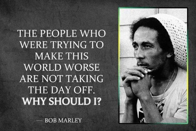 Bob Marley Picture Quote