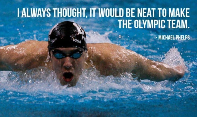 Michael Phelps Inspirational Picture Quote