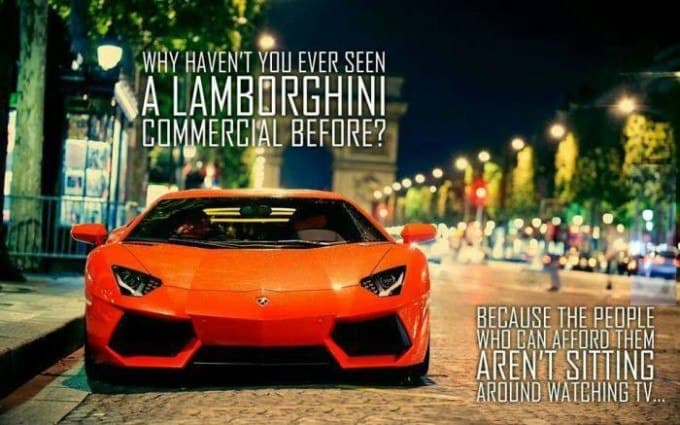 No Lamborghini Commercial
