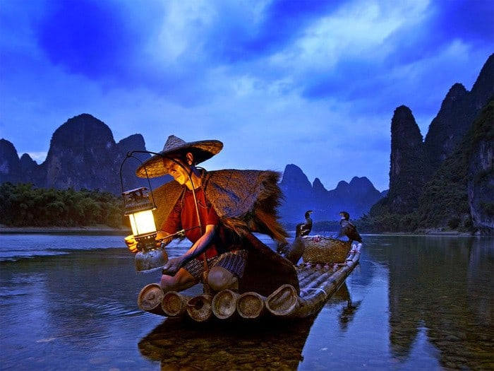 14 Cormorant Fisherman – Li River Xingping China