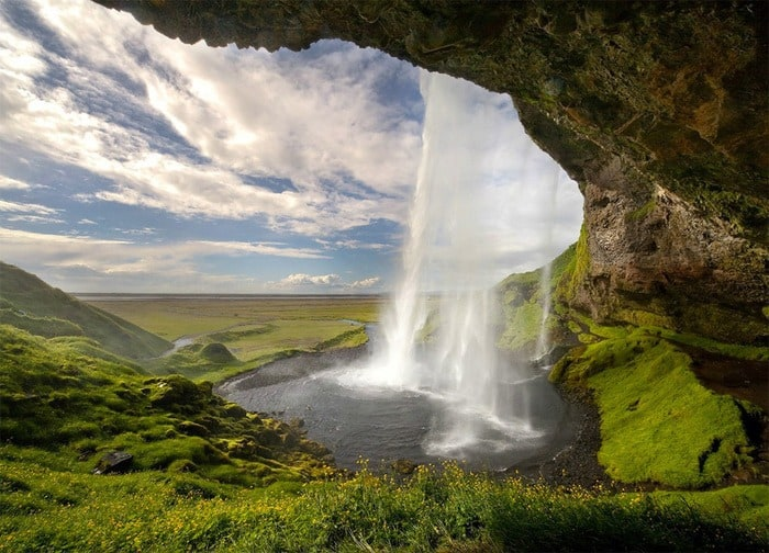 17 Behind a Waterfall – Seljalandsfoss Iceland