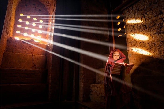 21 Novice Finding Some Reading Light – Bagan Myanmar