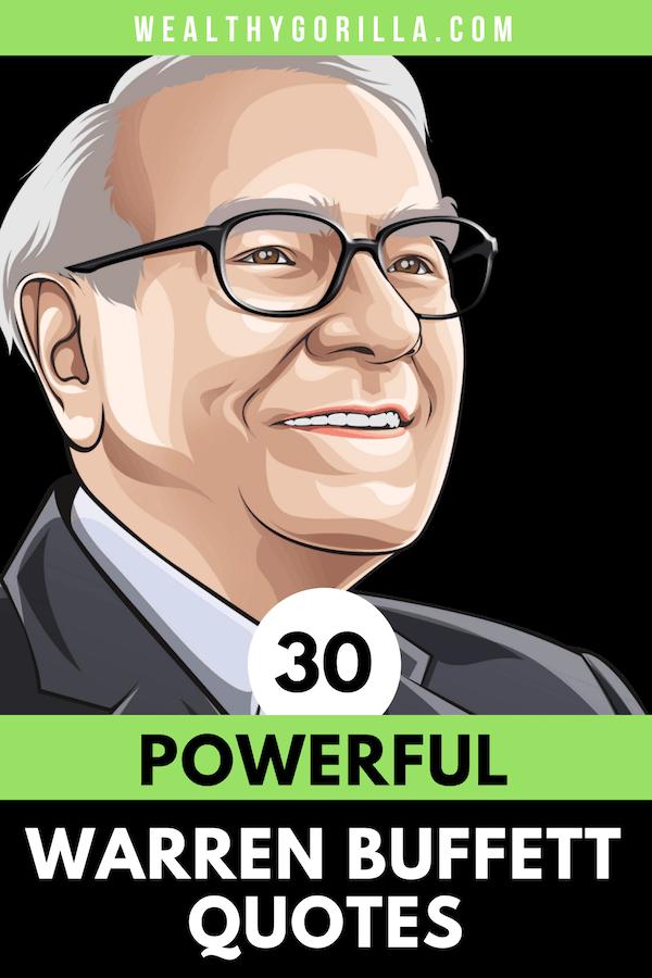30 Warren Buffett Quotes Pin