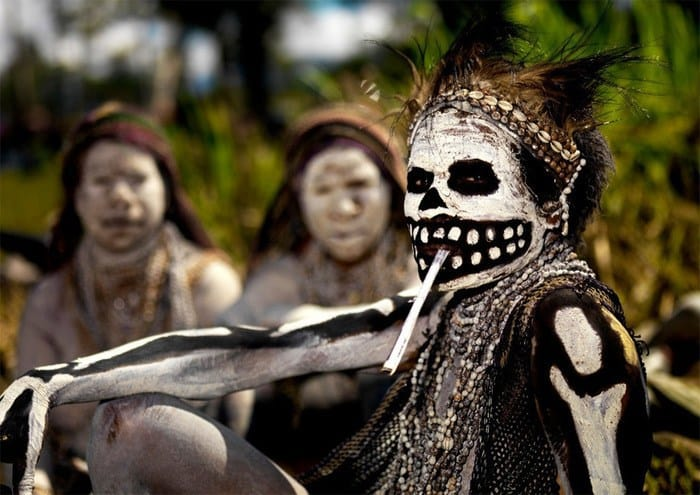 4 Woman at Death Celebration – Mount Hagen Papua New Guinea