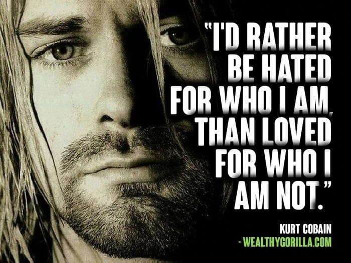 40 Kurt Cobain Quotes About Life Depression Love Updated 2020 Wealthy Gorilla