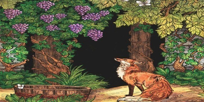 Short Moral Stories - The Fox & The Grapes