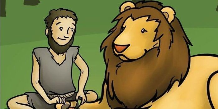 Short Moral Stories - The Lion & The Poor Slave