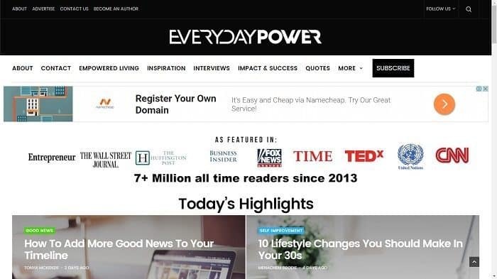 Best Motivational Blogs - Everyday Power Blog