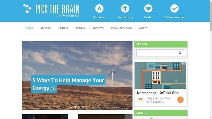 Best Motivational Blogs - Pick the Brain