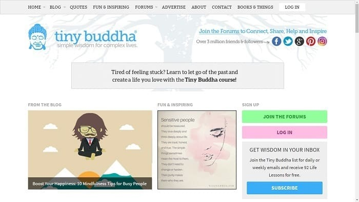 Best Motivational Blogs - Tiny Buddha