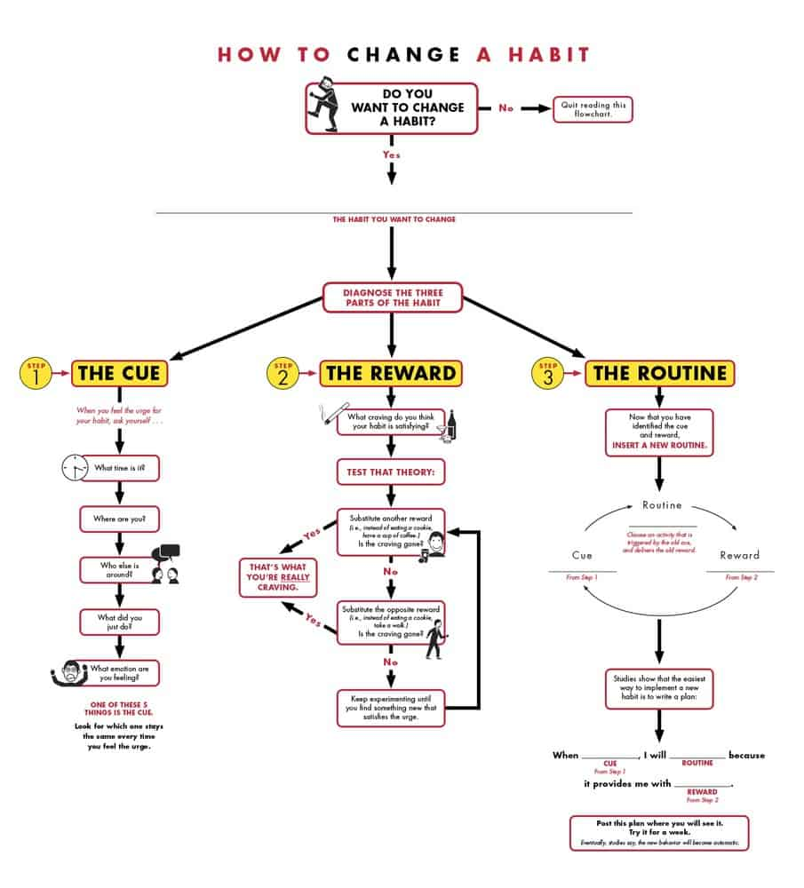 How to Change A Habit Infographic