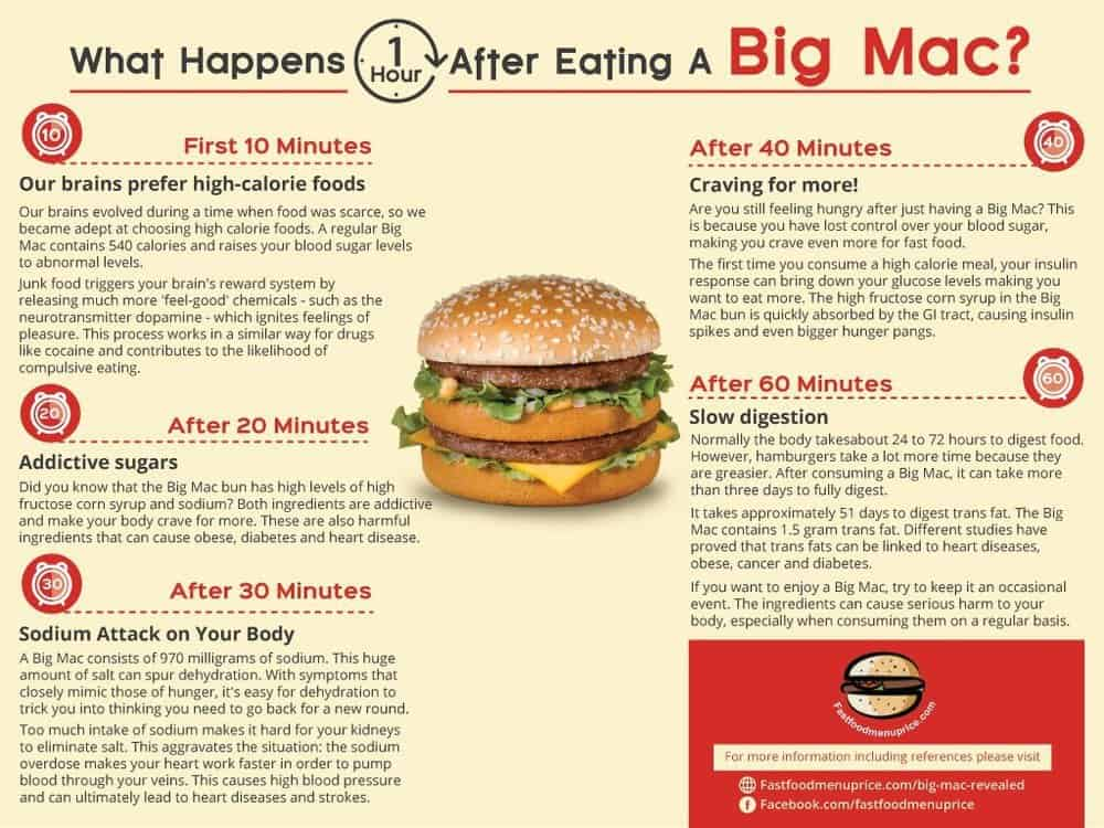 What Happens to Your Body After Eating A Big Mac [Infographic]