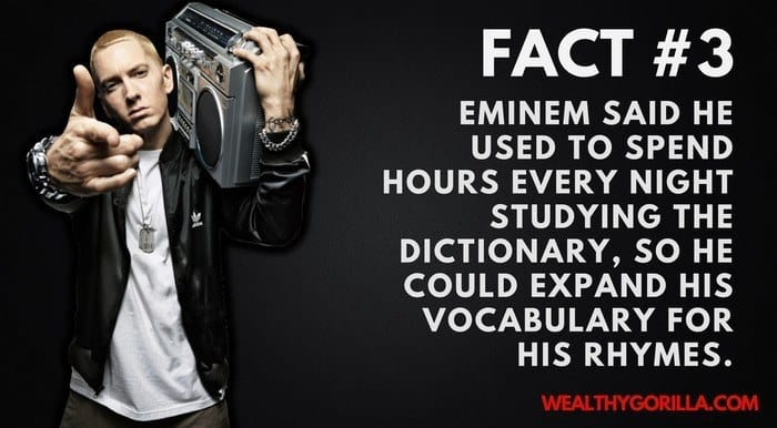 Eminem's Net Worth - 3rd Eminem Fact