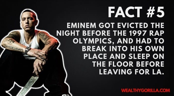 Eminem's Net Worth - 5th Eminem Fact