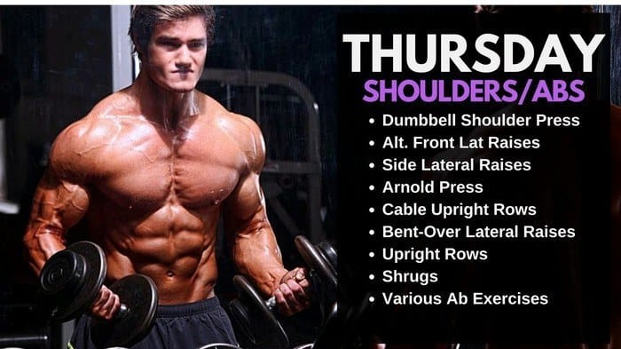 Jeff Seid Workout Routine - Shoulders