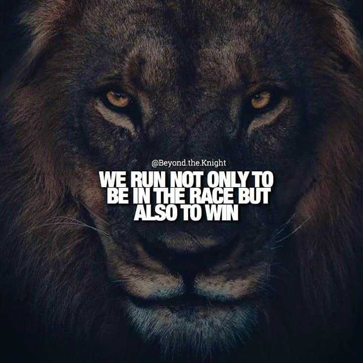 """""""We run not only to be in the race, but also to win."""" - quote"""