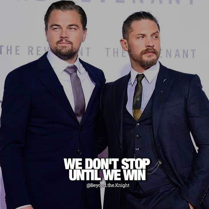 """""""We don't stop until we win."""" - quote"""