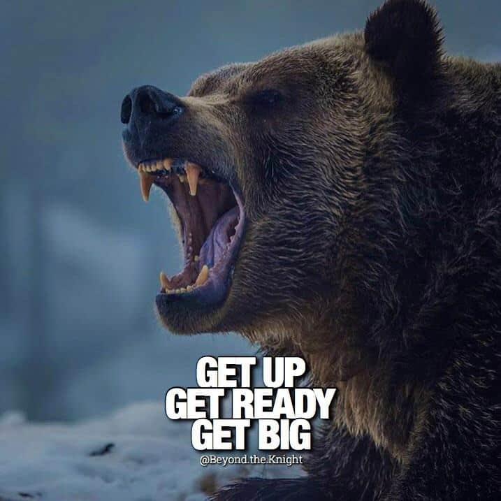 """Get up. Get ready. Get big."" - quote"