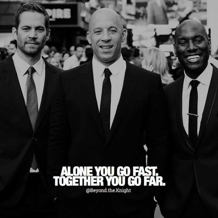 """""""Alone you go fast. Together you go far."""" - quote"""
