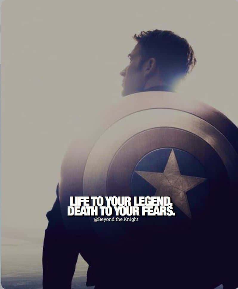 """""""Life to your legend. Death to your fears."""" - quote"""