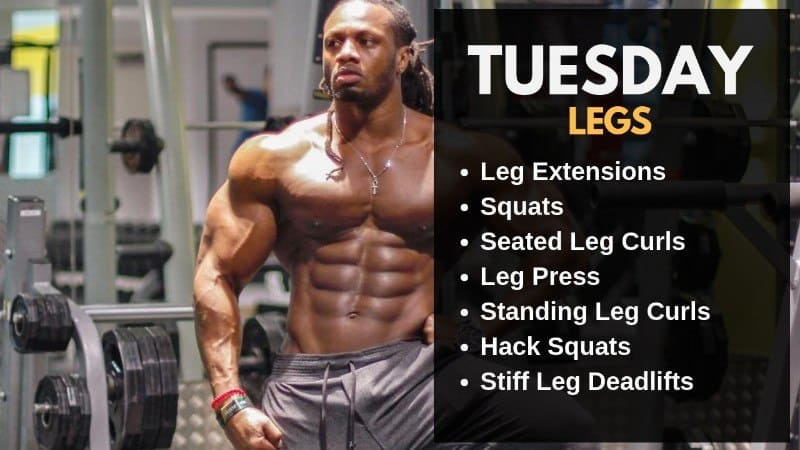 Ulisses Jr Workout Routine - Tuesday