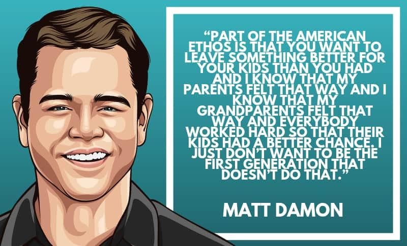 Matt Damon Picture Quotes 3
