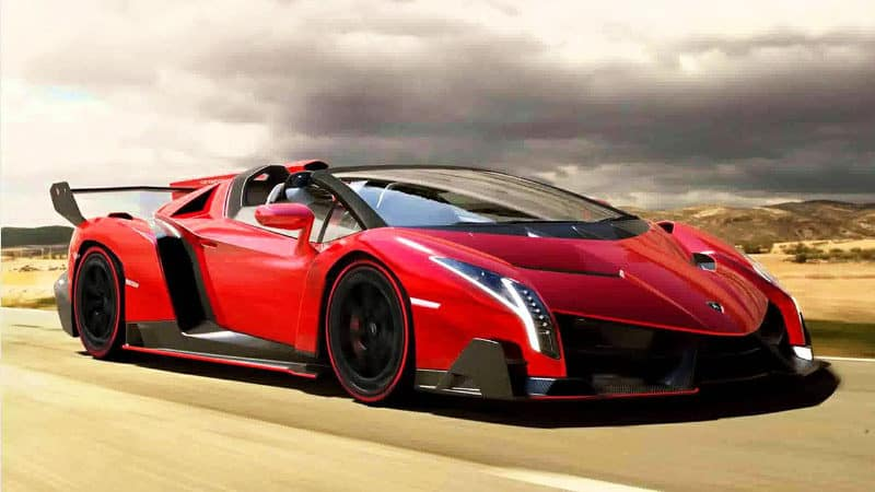 Most Expensive Cars - Lamborghini Veneno Roadster