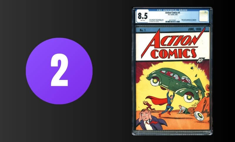 Most Expensive Comic Books - Action Comics #1 8.5