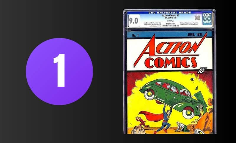 Most Expensive Comic Books - Action Comics #1 9.0