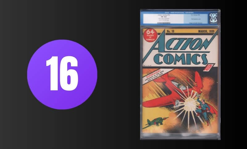 Most Expensive Comic Books - Action Comics #10