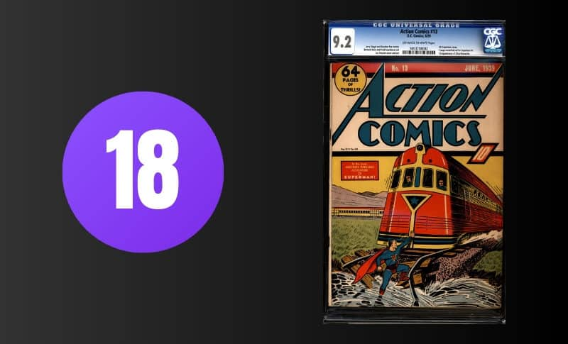 Most Expensive Comic Books - Action Comics #13