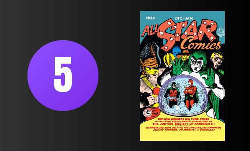Most Expensive Comic Books - All Star Comics #8
