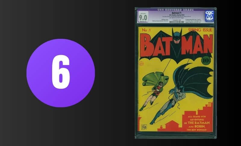 Most Expensive Comic Books - Batman #1