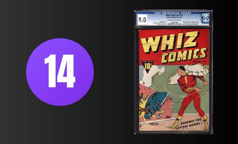 Most Expensive Comic Books - Whiz Comics #2