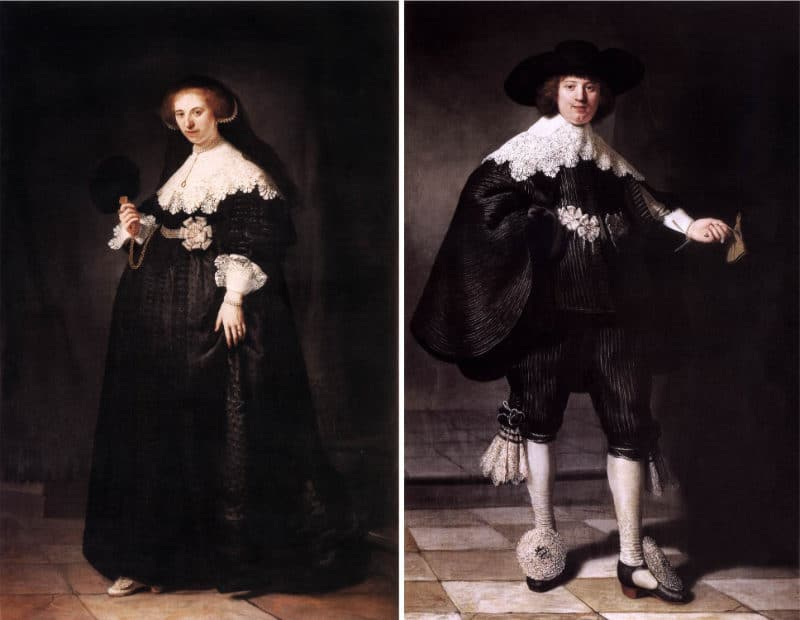 Most Expensive Paintings - Pendant portraits of Maerten Soolmans and Oopjen Coppit - Rembrandt