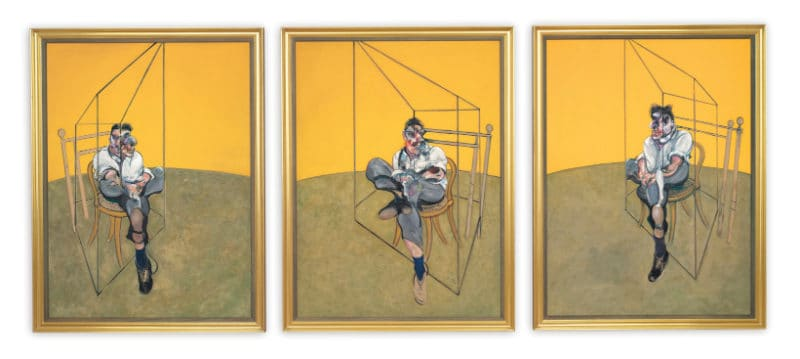Most Expensive Paintings - Three Studies of Lucian Freud - Francis Bacon