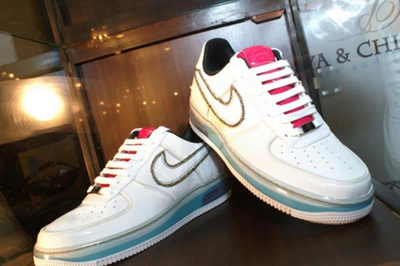 Most Expensive Sneakers - Diamond Encrusted Air Force 1
