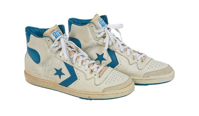Most Expensive Sneakers - Michael Jordan's Game Worn Converse Fastbreak
