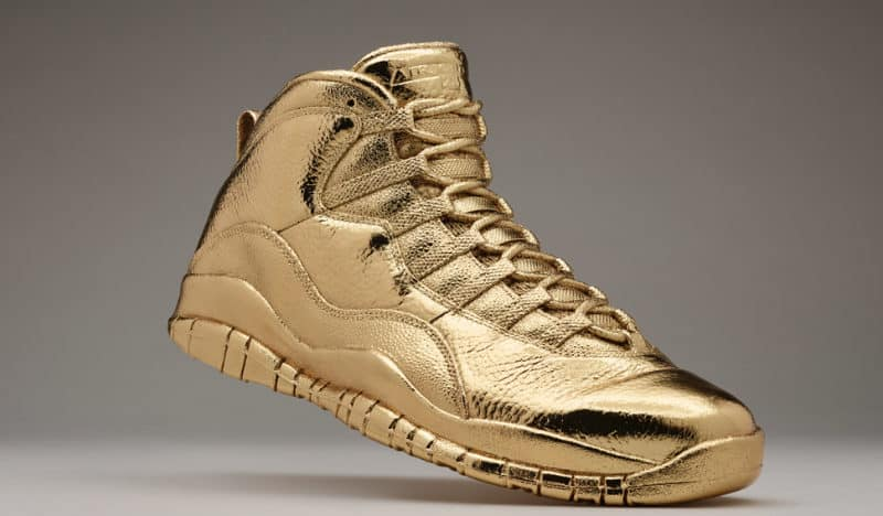 Most Expensive Sneakers - Solid Gold OVO x Air Jordans