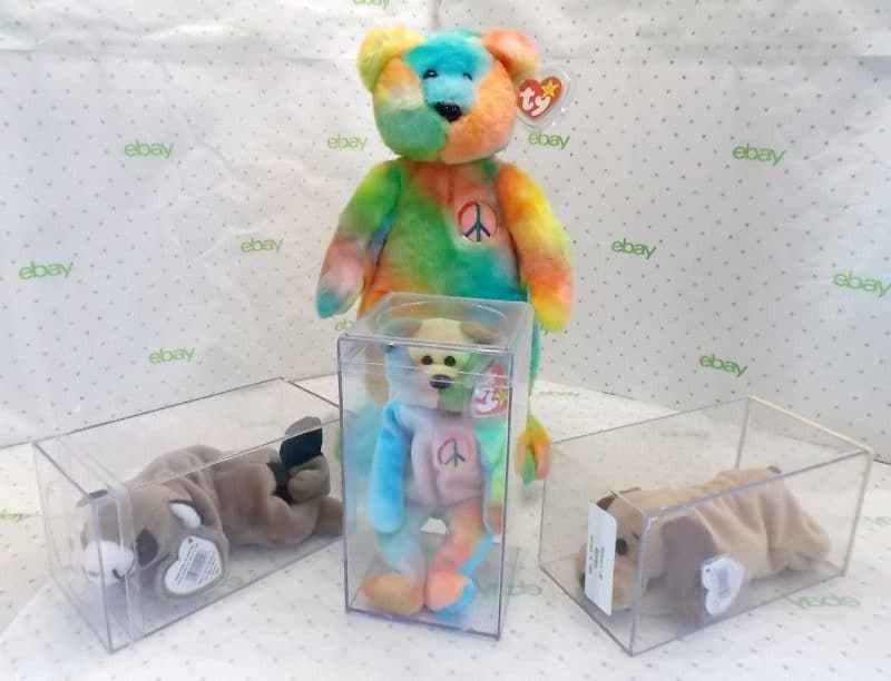 Most Expensive Beanie Babies - 15-inch Peace bear and 9-inch Peace, Ringo and Bones