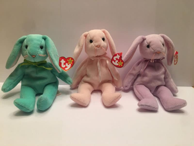 Most Expensive Beanie Babies - Hippity, Hoppity and Floppity the Bunnies