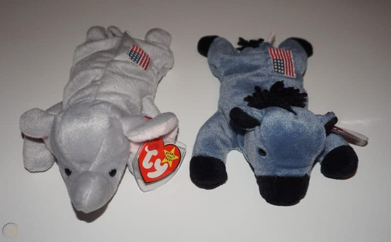 Most Expensive Beanie Babies - Lefty the Donkey and Righty the Elephant