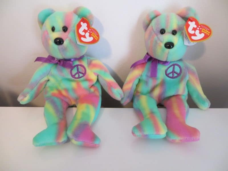 Most Expensive Beanie Babies - Peace the Bear